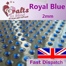 195 x 2 mm Bleu royal strass diamante gems qualité diamonte 4 cartes de voeux