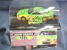 John Deere Chad Little Racing Champions Set 1:24 & 1:64Th Die-Cast Cars In Case