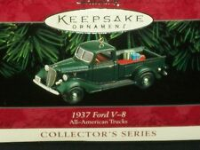 Hallmark Ornaments 1937 Ford V-8 All-American Trucks 4th Series Handcrafted 1998