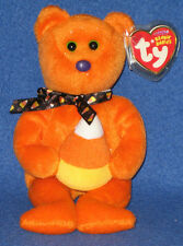 TY TREATOR the HALLOWEEN BEAR BEANIE BABY - MINT with MINT TAGS