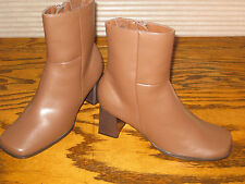 Woman's Leather Ankle Boots 7.5 M Brown,Chadwick's Brand NEW(Heel 3 in.And Up)