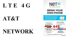 THIS NET10 MICRO SIM CARD FOR UNLIMITED AT&T SMARTPHONES $35 MO WITHOUT CONTRACT