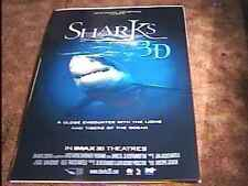 SHARKS 3D ROLLED 27X40 ORIG MOVIE POSTER JAWS IMAX
