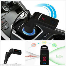 LCD Car Bluetooth Handsfree FM Transmitter Radio MP3 Player USB Charger Kit &AUX
