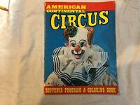 American continetal circus program and coloring  book 1974