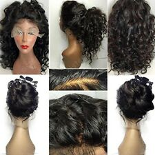 Remy Pre Plucked Natural Indian Virgin Human Hair Lace Front Wig Full Lace Wig s