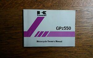 KAWASAKI  GP z 550 A3  OWNERS MANUAL / HANDBOOK / BOOKLET