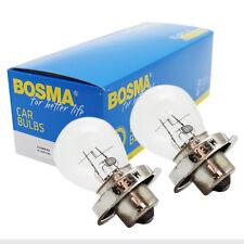 2 x Lampe Birne Bosma P26s 6V 35W Premium Kugellampe für Scheinwerfer etc.