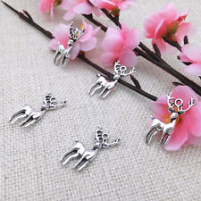 Wholesale 6pcs Tibet Silver Deer Charm Pendant Beaded Jewelry 145