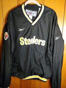 Vintage reebok nfl pro line Steelers Pull Over Jacket