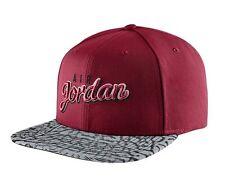 Nike Air Jordan Seasonal Print SnapBack Hat Red Grey Black One Size 724904-687