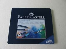 Faber Castell  Aquarell Tin Case of 24 colored Pencils Ships from NYC