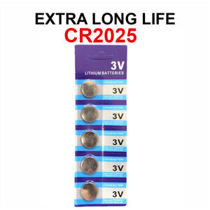5 x Fresh CR 2025 CR2025 ECR2025 BR2025 LITHIUM COIN CELL Battery Exp 2029 NEW