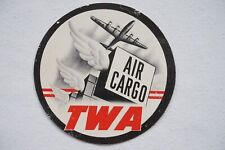 TWA Air Cargo Airline Luggage Label