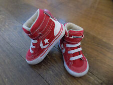 Converse Pro Blaze Strap High Top Red White Strip All Star Infant Toddler Sz 5