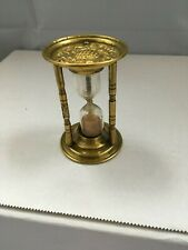 More details for lovely decorative antique brass egg timer - pineapple - fruits & berries 3 inch