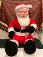 "Vintage Christmas 25"" Santa Claus Rubber Face Plush Doll Superior Toy & Novelty"
