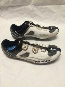 Specialized S-Works Road Shoes Black White Mens 45A Narrow w/ Speedplay Cleats