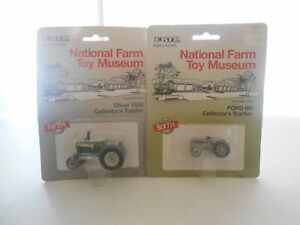 Lot of 2 ERTL Farm Museum Oliver 1555 Tractor & Ford 9N Tractor 1/64