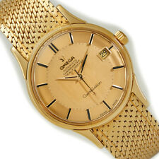 OMEGA CONSTELLATION 'PIE PAN', 18CT 1962, ON ORIGINAL 18CT BRACELET - IMMACULATE