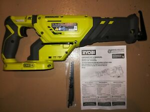 New Ryobi GENUINE 18V ONE+ Brushless Cordless Reciprocating Saw P518 Tool only