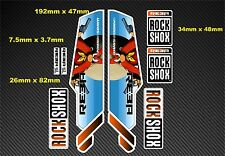 Rock Shox Reba  Style Suspension Fork Decal/Stickers rx09