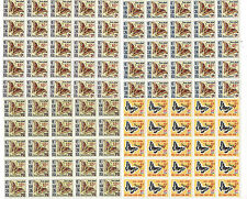 VIETNAM SCOTT # J21-4 SURCHARGED BUTTERFLIES BLOCKS OF 25 MNH