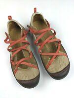 J-41 GENESIS Women's Size 9.5 Vegan Hiking Adventure SLIP ON Shoes Tan & Orange
