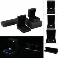 LED Lighted Ring/Bracelet/Necklace Jewellry Display Case Storage Organizer Boxes