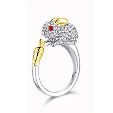 Opening Ring Jewelry Rhinestone Bunny Finger Ring Rabbit For Women Rings