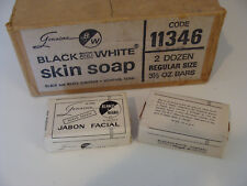 Vintage Black & White Soap Bar Spanish Label Blanco y Negro NOS Original Formula
