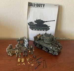 Mega Bloks Construx Call of Duty COD WW2 Battle Tank CNG96 Set w/ Manual