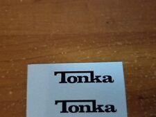 TONKA TRUCK LOGO NAME  DECAL SET