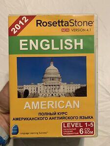 2012 Rosetta Stone English American-Version 4.1-Level 1-5; 6 Discs