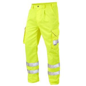 LEO WORKWEAR Bideford Regular Fit Polycotton Cargo Trousers Yellow