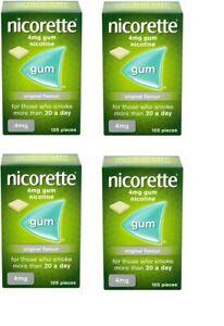 Nicorette original Flavour gum 4mg 105 pieces 4 Pack