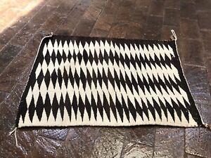 vintage Navajo rug gallup throw saddle blanket
