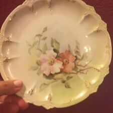 Gerard Dufraisseix & Abbot (GDA) French Limoges Hand Painted & Gold China Plate