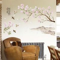 Art Vinyl Quote DIY Peach Blossom Flower Wall Sticker Decal Mural Home Decor Q