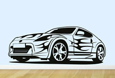 SPORTS CAR 02. Children's bedroom nursery vinyl sticker wall transfer art decor