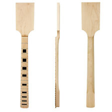 Paddle Guitar Neck Maple Wood 22 Jumbo Frets Block Inlay Unfinished Guitar Parts