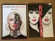 Christina Aguilera Xtina 2 promo cards Burlesque, Bi-On-Ic 5x7 vegas Cher
