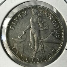 1944 PHILIPPINES SILVER 50 CENTAVOS HIGH GRADE COIN