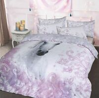 Luxury Pretty Unicorn Lilac Duvet Cover Sets with Pillow Case Double King Sizes