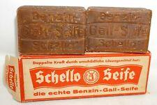SCHELLO Seife Benzin-Gall-Seife, 2 Stück in OVP ALT Sammlerstück 2x 200 Gramm