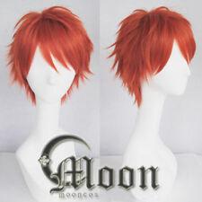 Mystic Messenger 707 Red Orange Short Hair Cosplay Anime Wig Halloween Game Prop