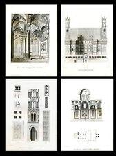 ARCHITECTURE..Church of the Martorana, Palermo..4 Antique engravings...1858