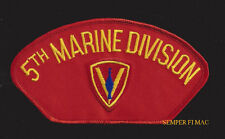 5TH MARINE DIVISION HAT PATCH US MARINES VETERAN PIN UP WW2 KOREA VIETNAM WAR
