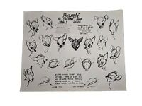 "Original Photostat Disney Studio Model Sheet Bambi At Infant Age 11x14"" (1940)"