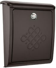 Bordeaux Locking Rubbed Bronze Wall Mount Mailbox Outdoor Decorative Accessories